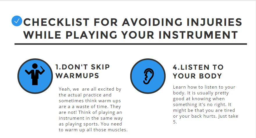 6 Tips to avoid injuries while playing your instrument